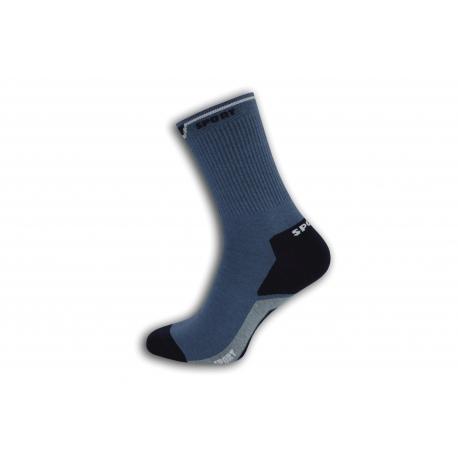 Bavlnené pánske športové ponožky - modré