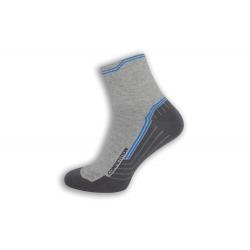 Bavlnené športové ponožky – bledo-sivé