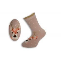 Ružové detské ponožky s mačkou