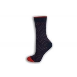 Fialové bodkované dámske ponožky