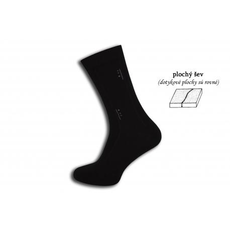 Čierne ponožky s plochým švom – plus