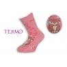 Ružové teplé detské ponožky s líškou