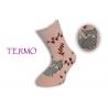 Bledo ružové teplé detské ponožky s líškou