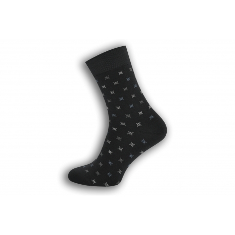 Šedé pánske ponožky so vzorom