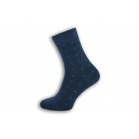 Modré pánske ponožky so vzorom