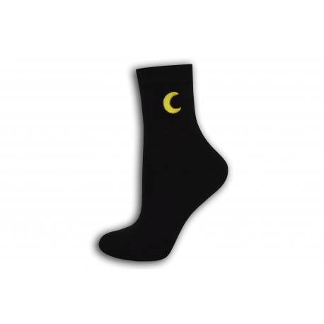 Luxusné dámske čierne ponožky
