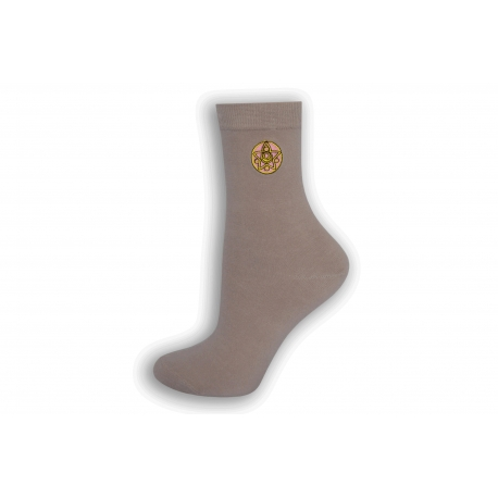 Luxusné dámske púdrové ponožky