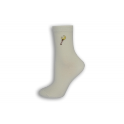Luxusné dámske biele ponožky