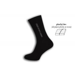 100% bavlnené bezšvové čierne ponožky
