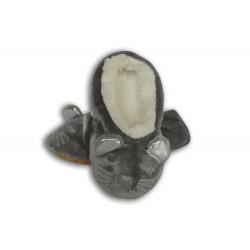 Sivé detské nízke papučky