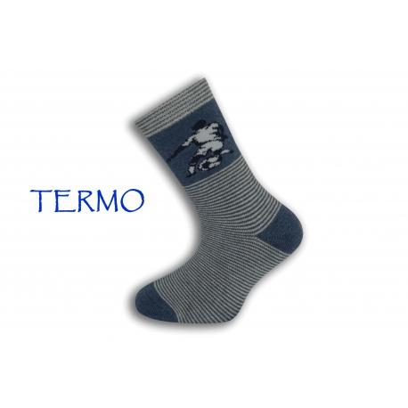 Teplé pásikavé chlapčenské ponožky