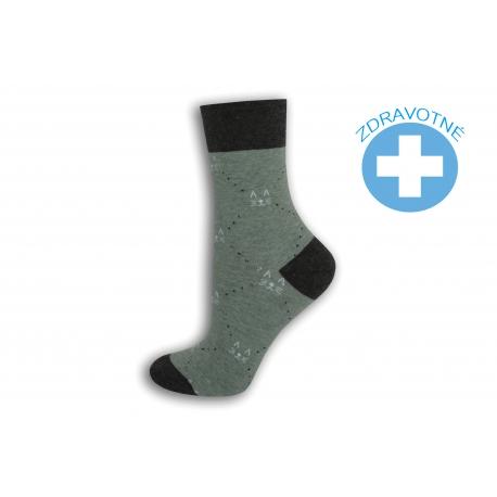 Pistáciové ponožky so zdravotným lemom
