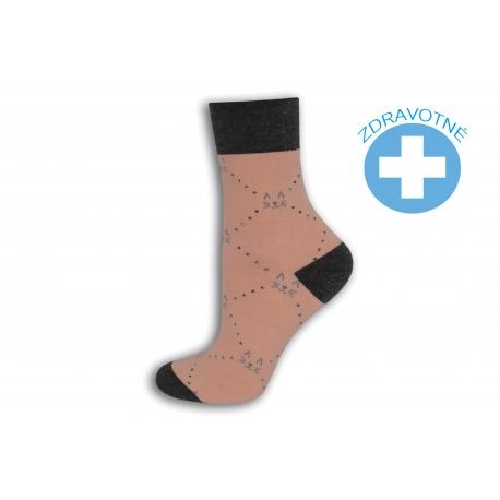 Ružové ponožky so zdravotným lemom