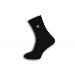 Fashion pánske čierne ponožky