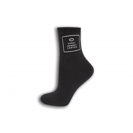 Tmavo šedé dámske ponožky