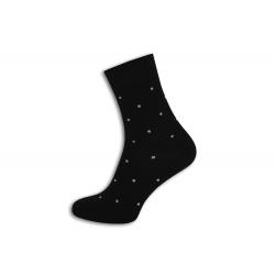 Čierne pánske ponožky s bodkami