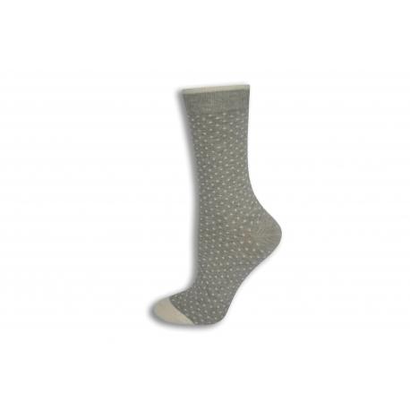Sivé bodkované ponožky