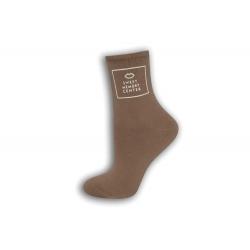 Hnedé dámske ponožky