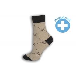 Béžové ponožky so zdravotným lemom