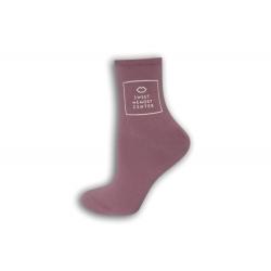 Fialové dámske ponožky
