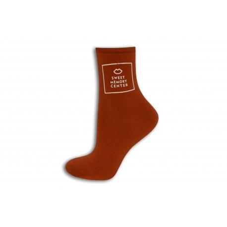 Tehlové dámske ponožky