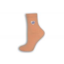Marhulové luxusné ponožky