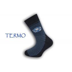 Modré chlapčenské teplé ponožky