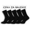 Lacné pánske výhodne balenie vysokých čiernych ponožiek