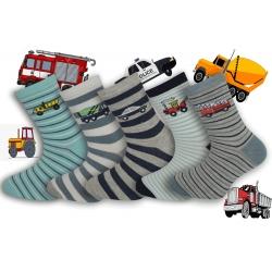 Parádne chlapčenské ponožky s autami