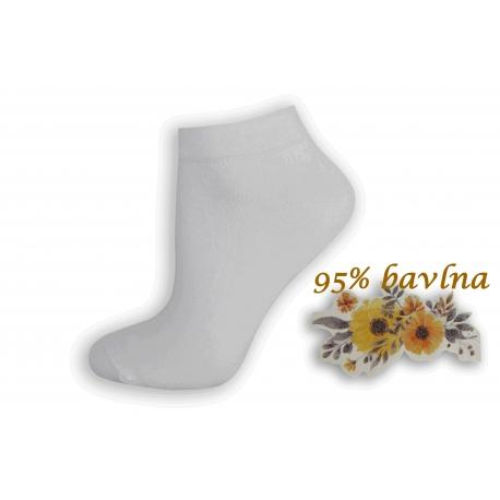 Biele dámske kotníkové ponožky