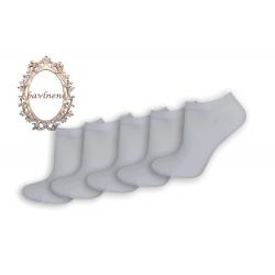 Biele členkové ponožky - 5-párov