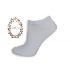 Bavlnené krátke biele ponožky
