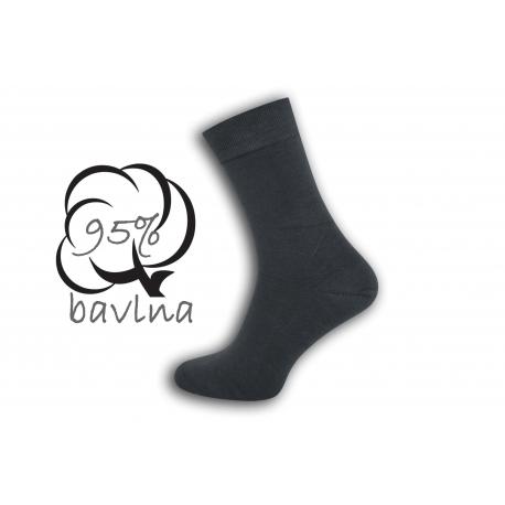 IBA 43-46! Sivé pánske ponožky s plochým švom