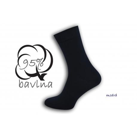 IBA 43-46! Modré pánske ponožky s plochým švom