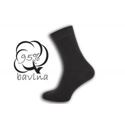 IBA 43-46! Tmavosivé ponožky s plochým švom
