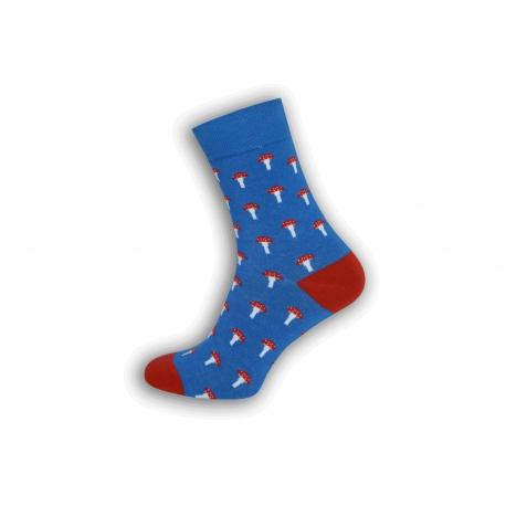 Pánske ponožky s hríbikmi