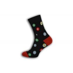 Čierne ponožky s bowlingovými guľami