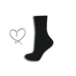 Tmavosivé ponožky so širokým lemom