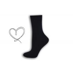 Tm.modré  ponožky so širokým lemom
