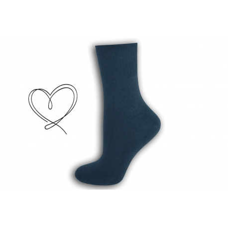 Modré ponožky so širokým lemom