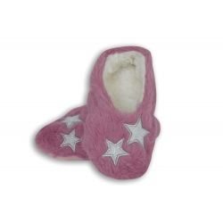 Fialové detské papučky s hviezdičkami