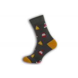 Veselé  pánske ponožky s čiapkami