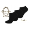 Čiene kotníkové dámske ponožky - 3páry