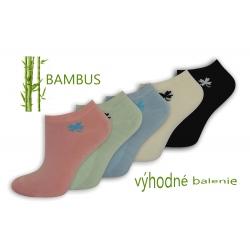 Jemné bambusové ponožky. 5-párov