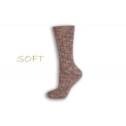 SOFT. Bordové jemné ponožky do postele