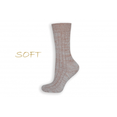 SOFT. Ružové jemné ponožky do postele
