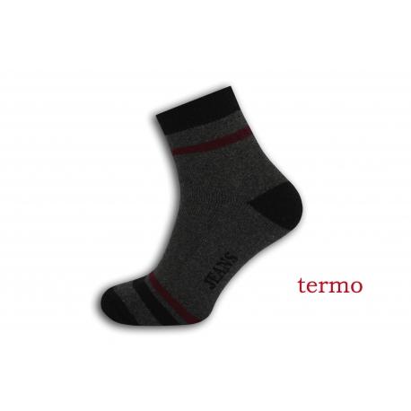 Teplé pánske športové ponožky - sivé