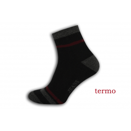 Teplé pánske športové ponožky - čierne
