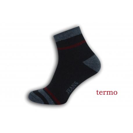 Teplé pánske športové ponožky - tm.modré