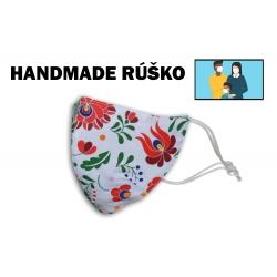 HANDMADE. Vzorované bavlnené rúško